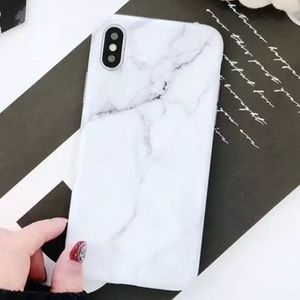 Accessories - NEW iPhone X/XS/7+/8+ White Marble Soft TPU Case
